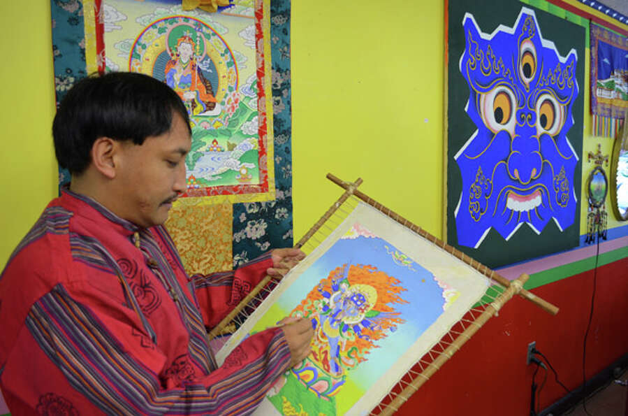 Former Tibetan monk Tashi Palden is inspired by his native country and its customs by building and r