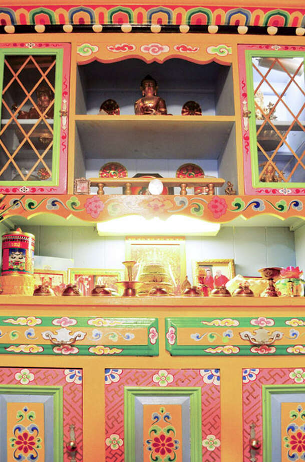 Former Tibetan monk Tashi Palden is inspired by his native country and its customs by building and repurposes/reclaims furniture - which he then paints. Read the full story  here  (Photo by Tyler Murphy/Life@Home)