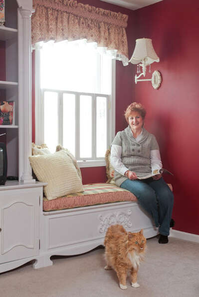 Patricia Coyle of Watervliet makes the most of her townhouse with an emphasis on ultra-feminine deta