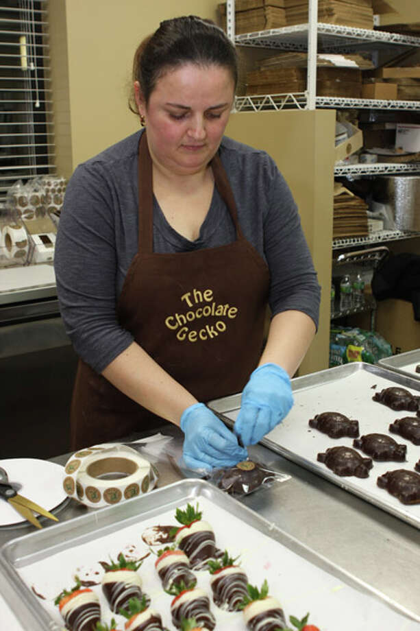 Terry Stratton, owner of The Chocolate Gecko, sells gourmet treats with unique names and flavors as a result of Stratton's extensive travels. Read the full story here