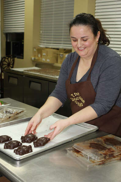 Terry Stratton, owner of The Chocolate Gecko, sells gourmet treats with unique names and flavors as