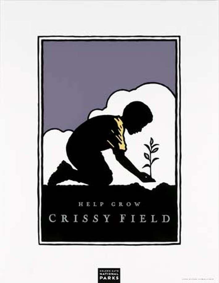"""Michael Schwab Design's """"Help Grow Crissy Field"""" poster."""