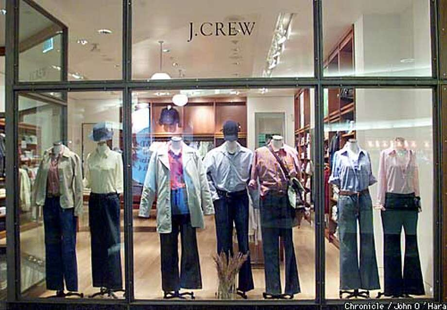 J. Crew (retail store) San Francisco Center, 5th & Market Sts. San Francisco.  Exterior view of a side window of J. Crew. Mickey Drexler is now head of J.Crew.  photo/John O'hara Photo: John O'hara