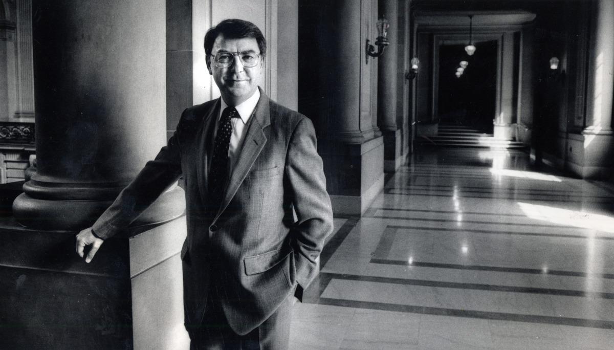 San Francisco Supervisor Richard Hongisto at City Hall in San Francisco in 1986.