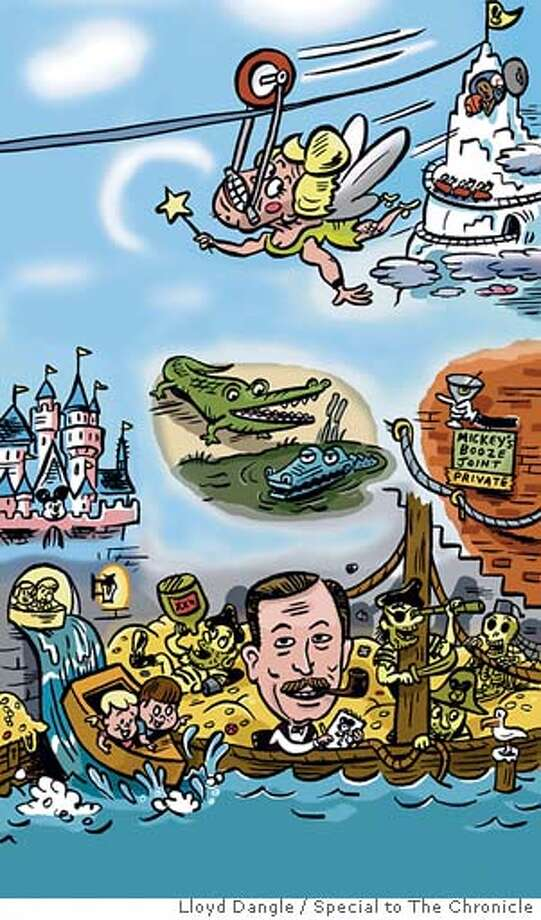 Disneyland. Illustration by Lloyd Dangle, special to the Chronicle