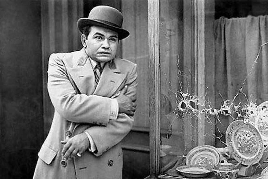 "Edward G. Robinson in ""Little Caesar."""