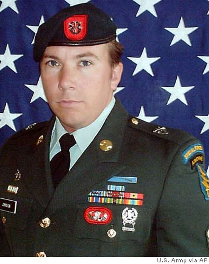 U.S. Army Sgt. 1st Class Allen C. Johnson, 31, a Special Forces medical sergeant assigned to 1st Battalion, 7th Special Forces group, Airborne, is seen in this undated U.S. Army handout photo. Johnson, of Los Molinos, Calif., died Tuesday, April 26, 2005, when his patrol came under small arms fire in Khanaqin, Afghanistan, the DOD said in a news release. (AP Photo/U.S. Army) UNDATED US ARMY HANDOUT PHOTO