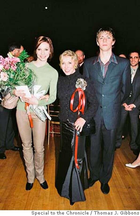 (L-R) TK, Natalia Marakova, TK @ the Bolshoi Gala @ Cal Perfs