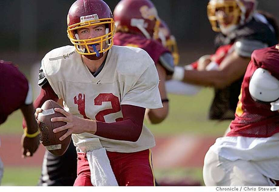 Event on 10/27/04 in Atherton  Menlo-Atherton High football quarterback Clark Hagman is a transfer from Bellarmine Prep. Hagman and the Bears look to make a late-season rush to a playoff berth after some close losses against tough competition in the Peninsula Athletic League Bay Division. Hagman was ranked in the state's top 100 college prospects heading into the season.  Chris Stewart / The Chronicle Photo: Chris Stewart