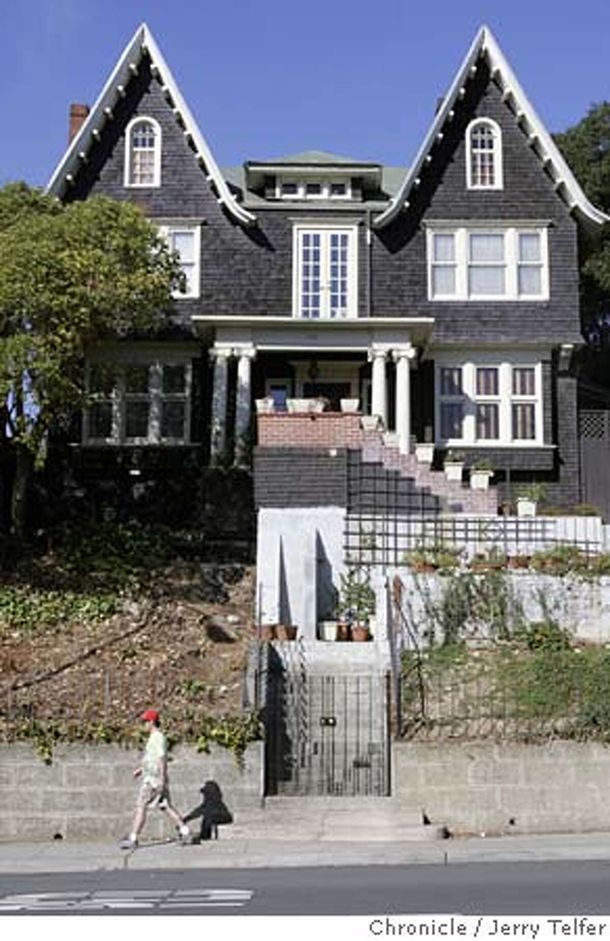 Event on 10/22/04 in Vallejo. 720 Georgia is a classic symmetrical gabled design by architect William Jones, who designed many landmark Vallejo homes. Chronicle photo by Jerry Telfer / The Chronicle