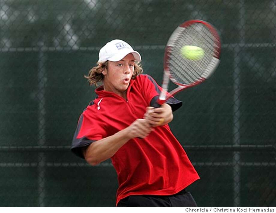 Profile of Billy Kingsborough, a Cardinal Newman HS student who was the top tennis player in the North Bay League for the past two seasons. This year he is a junior and some expect him to win the North Coast championship.  Photo shoot is a championship game with Kingsborough facing off against Montgomery High School's top singles player, Conner Olson. .CHRISTINA KOCI HERNANDEZ/CHRONICLE Photo: CHRISTINA KOCI HERNANDEZ