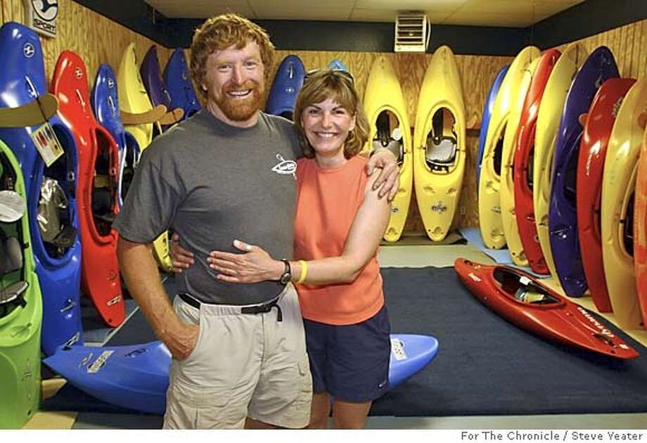 Owners of the River Store Dan Crandall and Colleen McKinnon in their new store in Lotus, Calif., on Friday, April 22, 2005. Photo by Steve Yeater/For The Chronicle Photo: Steve Yeater/For The Chronicle