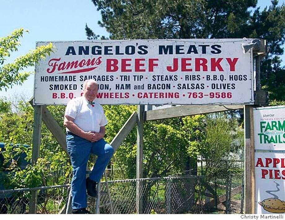 Photo of Angelo Ibleto, who makes beef jerkey. Photo by Christy Martinelli Photo: Christy Martinelli