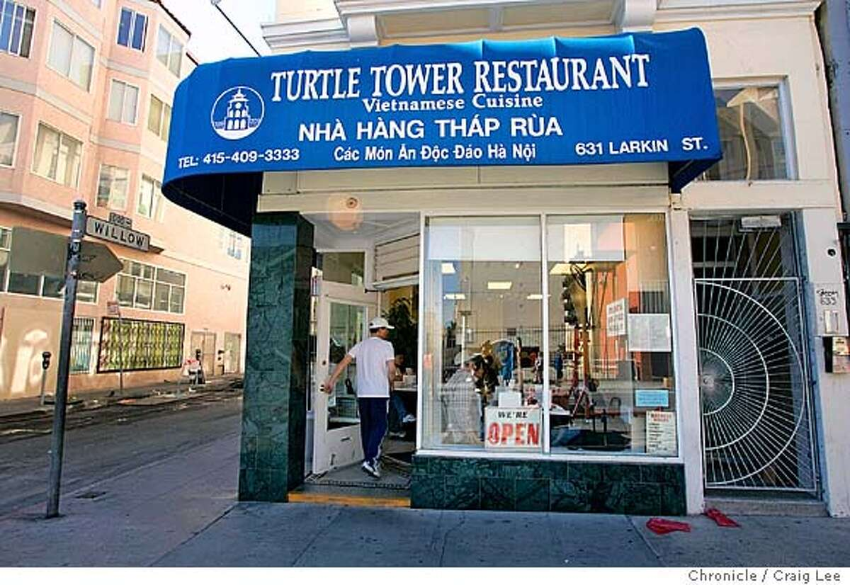 Story about best places to get pho. Turtle Tower restaurant at 631 Larkin Street. Event on 10/22/04 in San Francisco. Craig Lee / The Chronicle