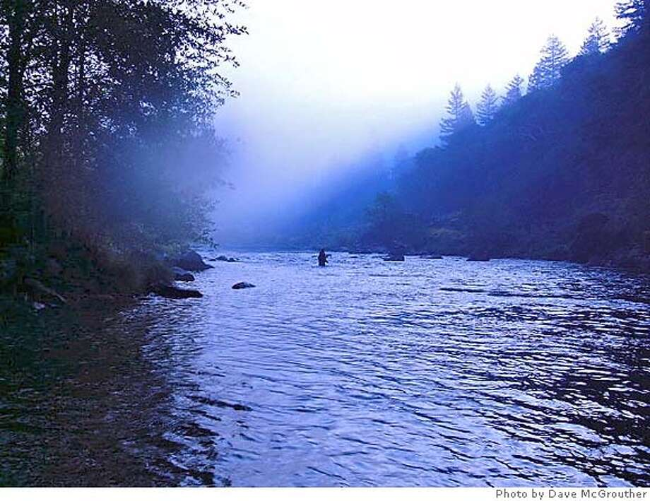 Lone fishermen on the Trinity River. Photo by Dave McGrouther Photo: Dave McGrouther
