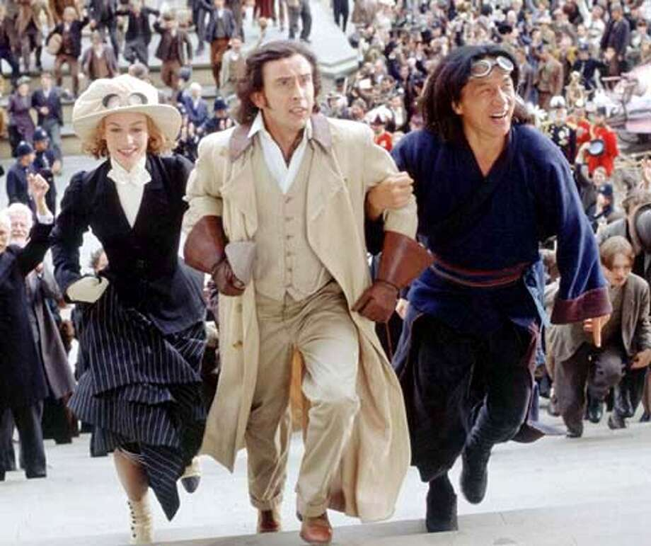 Around the World in 80 Days Cecile De France, Steve Coogan and Jackie Chan HO, 2004 Ran on: 06-13-2004  ProductName	SundayDatebook Ran on: 06-13-2004  Above: Cecile De France, Steve Coogan and Jackie Chan in &quo;Around the World in 80 Days&quo; (PG), which opens Wednesday in the Bay Area. Ran on: 06-13-2004  ProductName	SundayDatebook Datebook#Datebook#Chronicle#11/02/2004#ALL#Advance##0422135369 Datebook#Datebook#Chronicle#11/02/2004#ALL#5star##0422135369