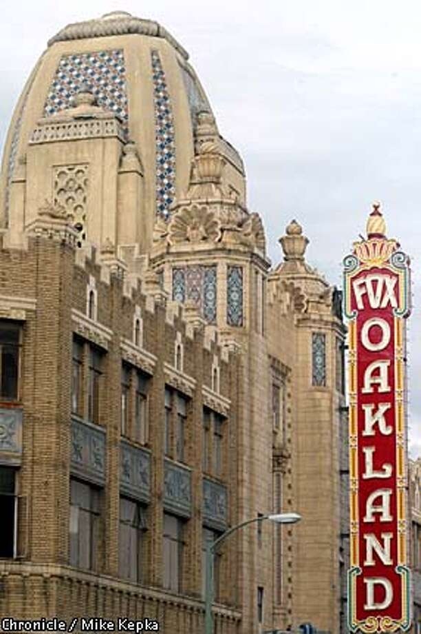 The 74-year-old Fox Theater in Oakland has been undergoing renovations for years but has been stalled by the downturn in the economy. Chronicle photo by Mike Kepka