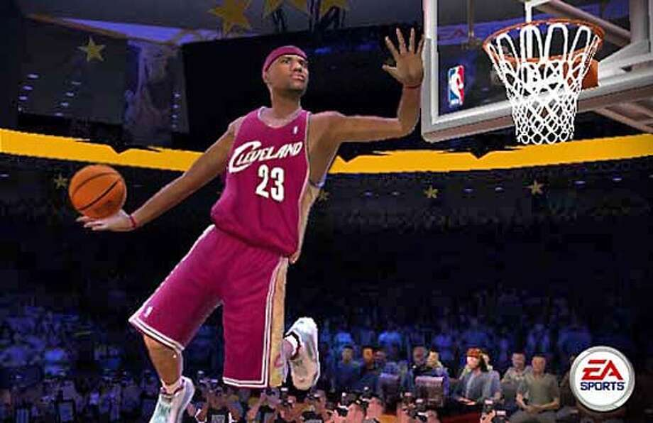 "Screen shot of ""NBA Live 2005""."