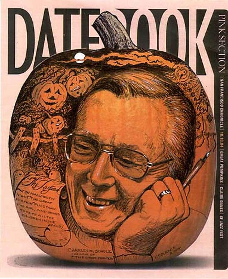 Pumpkin design by Sandra Mortimore. Datebook#Datebook#SundayDateBook#10/31/2004#ALL#Advance##0422430230