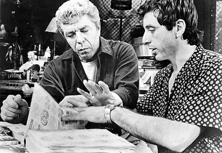 """American Buffalo,"" David Mamet's award-winning play. starring Al Pacino, J.J. Johnston and Bruce Macvittie."