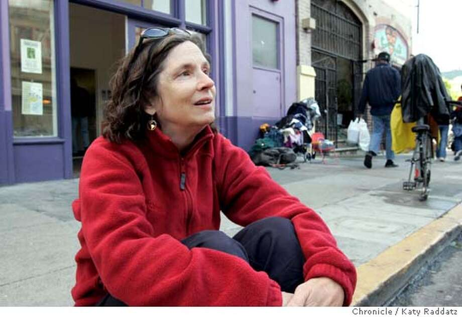 MARY GANZ, AUTHOR OF A STORY ABOUT LIVING ON THE STREETS, SHOWN ON THE STREET IN THE TENDERLOIN. Photo taken on 4/20/05, in SAN FRANCISCO, CA.  By Katy Raddatz / The San Francisco Chronicle Photo: Katy Raddatz
