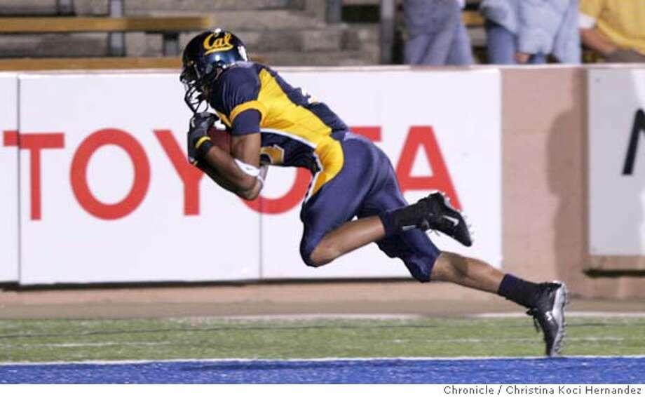 Cal's #11, Robert Jordan, makes first touchdown, in first quarter.CAL vs Arizona state .CHRISTINA KOCI HERNANDEZ/CHRONICLE Photo: CHRISTINA KOCI HERNANDEZ