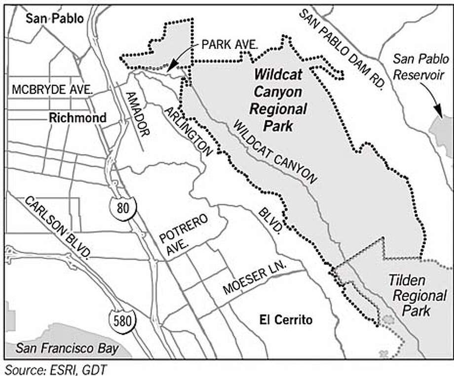 Wildcat Canyon Regional Park. Chronicle Graphic