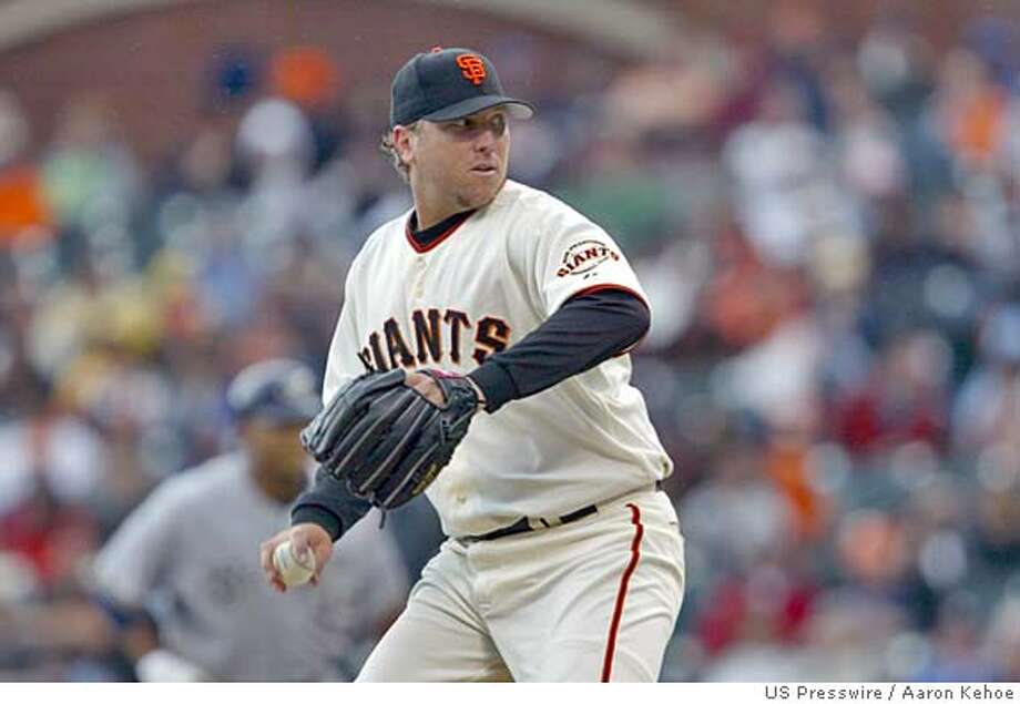 Apr 23, 2005; San Francisco, CA, USA; San Franciso Giants starting pitcher Brett Tomko throws a pitch during the first inning against the Milwaukee Brewers at SBC Park. Mandatory Credit: Photo By Aaron Kehoe-US PRESSWIRE Copyright (c) 2005 Aaron Kehoe Photo: Aaron Kehoe-US PRESSWIRE
