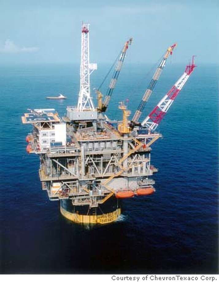 Photo of the Genesis Platform in the Gulf of Mexico. Photo: Courtesy Of ChevronTexaco Corp.