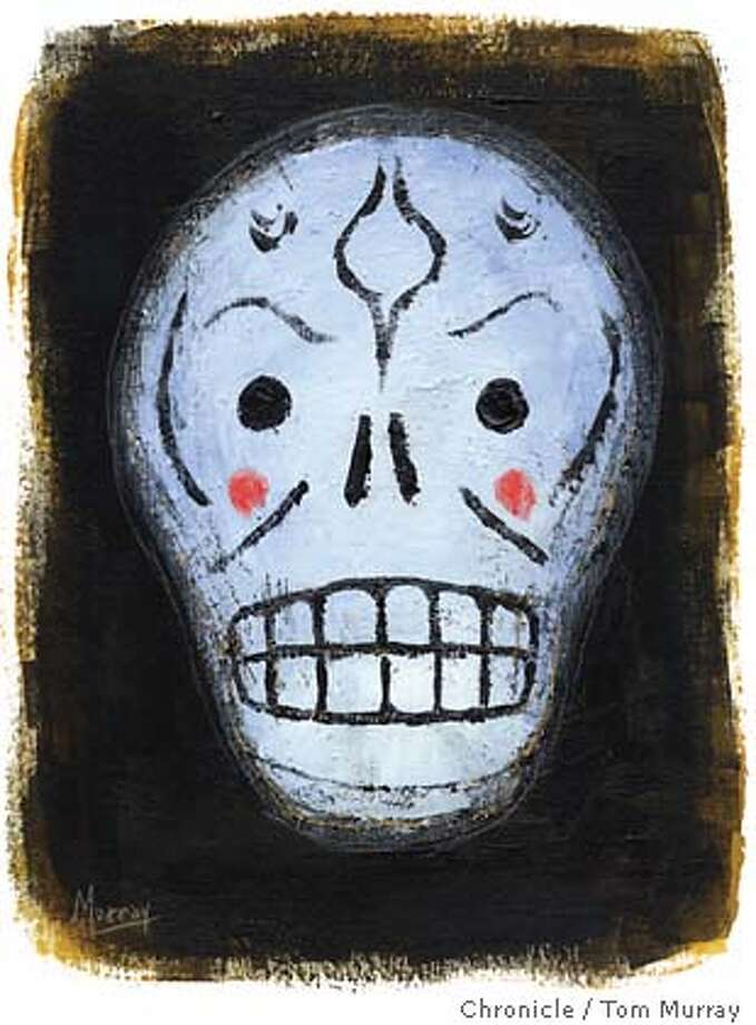 Day of the Dead mask. Chronicle Illustration by Tom Murray