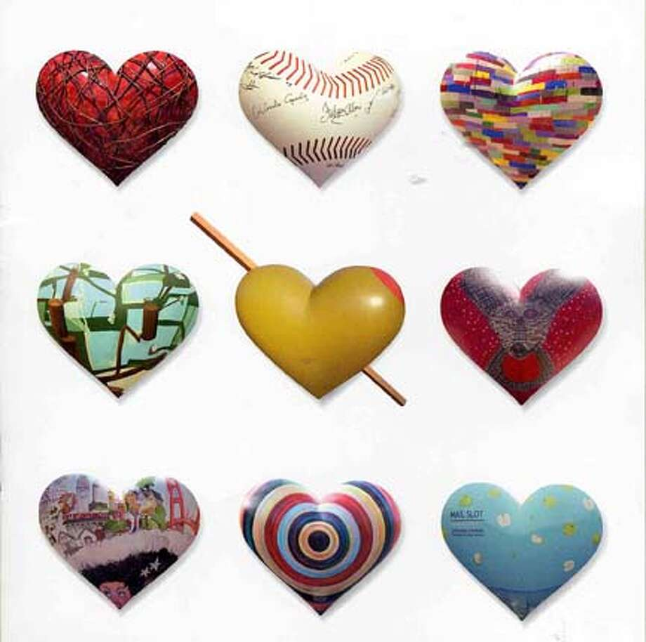 """San Francisco General Hospital Foundation Heart and Soul Gala features a live auction of some of the hearts from San Francisco's """"Heart Works"""""""