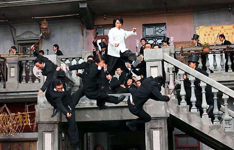 "Stephen Chow blasts members of the Axe Gang in ""Kung Fu Hustle."" Photo by Saeed Adyani Photo: Saeed Adyani"