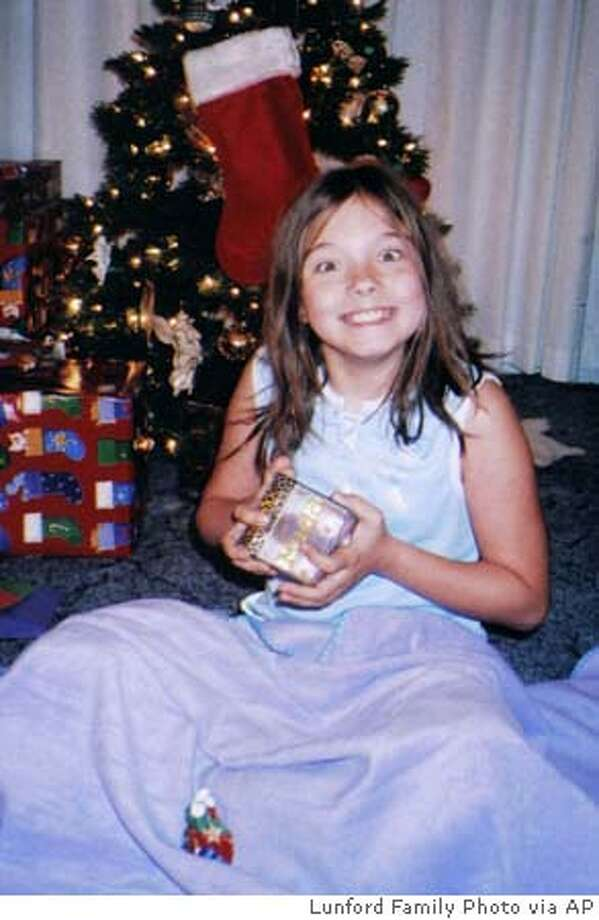 Jessica Lunsford, shown in this Dec. 25, 2004 photo released by the Lunsford Family. John Evander Couey, a registered sex offender, has admitted kidnapping Lunsford, a 9-year-old Florida girl from her bedroom last month and killing her, authorities said Friday, March 18, 2005. (AP Photo/Lunford Family Photo) Ran on: 03-19-2005  John Evander Couey