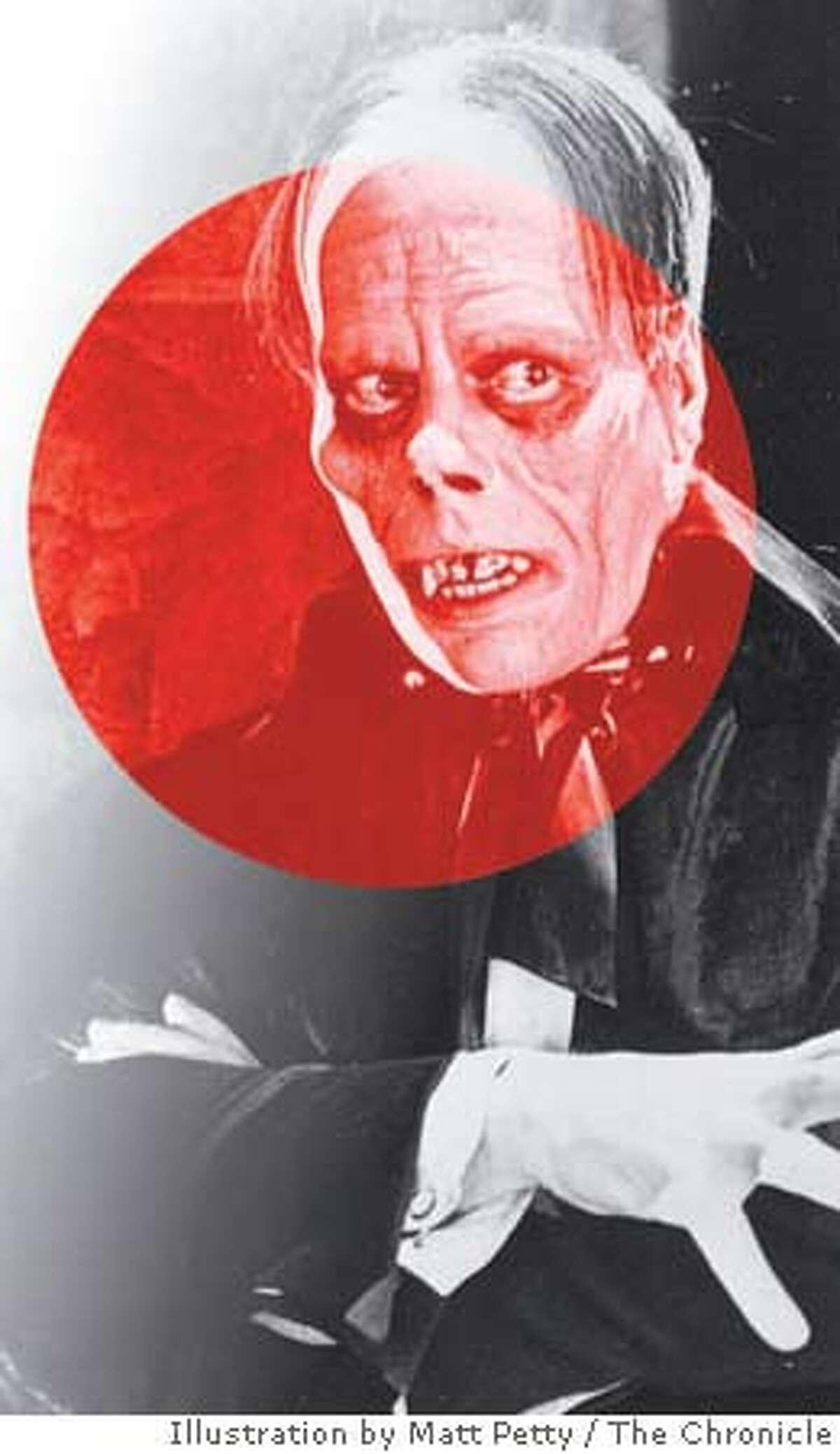Lon Chaney as the Phantom of the Opera. Chronicle photo illustration by Matt Petty