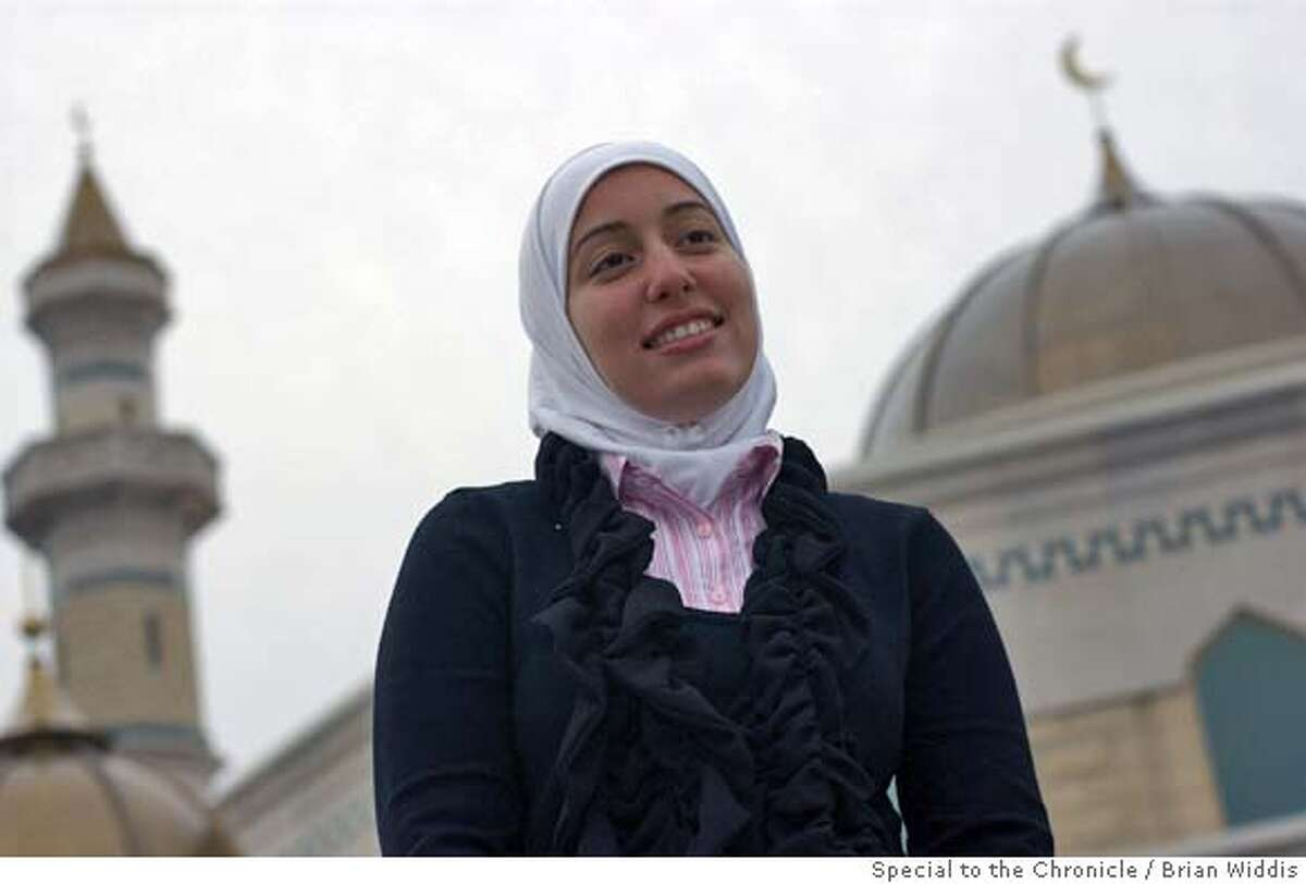 Nadia Bazzy, 19, of Canton, MI attends the newly constructed Islamic Center of America in Dearborn, MI. special to Chronicle by Brian Widdis.