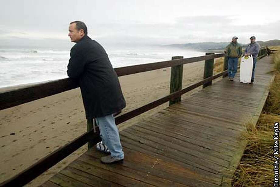 Mike Casey of Santa Rosa was attacked by a 15 -16' white shark Thanksgiving morning. He has returned to the scene of the attack, a beach near Bodega Bay, twice now for the sake of media reports. BY MIKE KEPKA/THE CHRONICLE Photo: MIKE KEPKA
