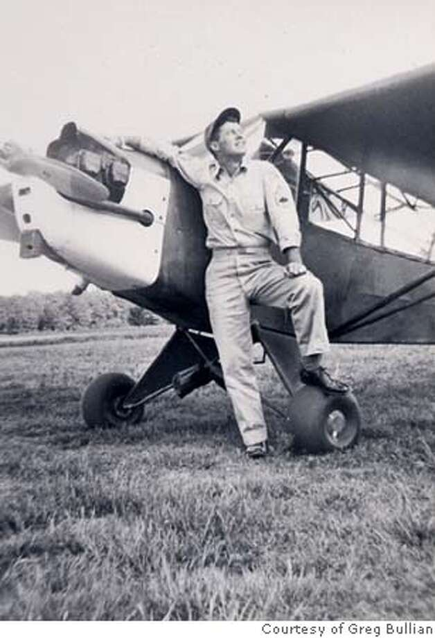 Photo of Ed Bullian in front of a friend's plane in Jackson, Miss, Spring 1945. Photo: Courtesy of Greg Bullian Photo: Courtesy Of Greg Bullian