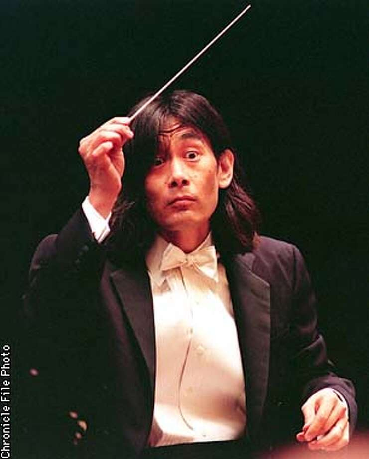 "BERKELEY 1/C/23AUG95/DD/PDS---Berkeley Symphony Orchestra Conductor lead the Berkeley Symphony Orchestra in"" ...but all shall be well"" by Thomas Ades at Zellebach Hall in Berkeley. Chronicle Phot By: Peter DaSilva. ALSO RAN: 6/28/99, 01/04/2001, 9/20/2001 Photo: PETER DASILVA"