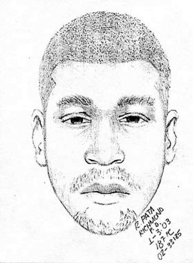 Richmond police released a sketch of the suspect in the slaying of Chronicle composing room employee Sean Edwards. HANDOUT.
