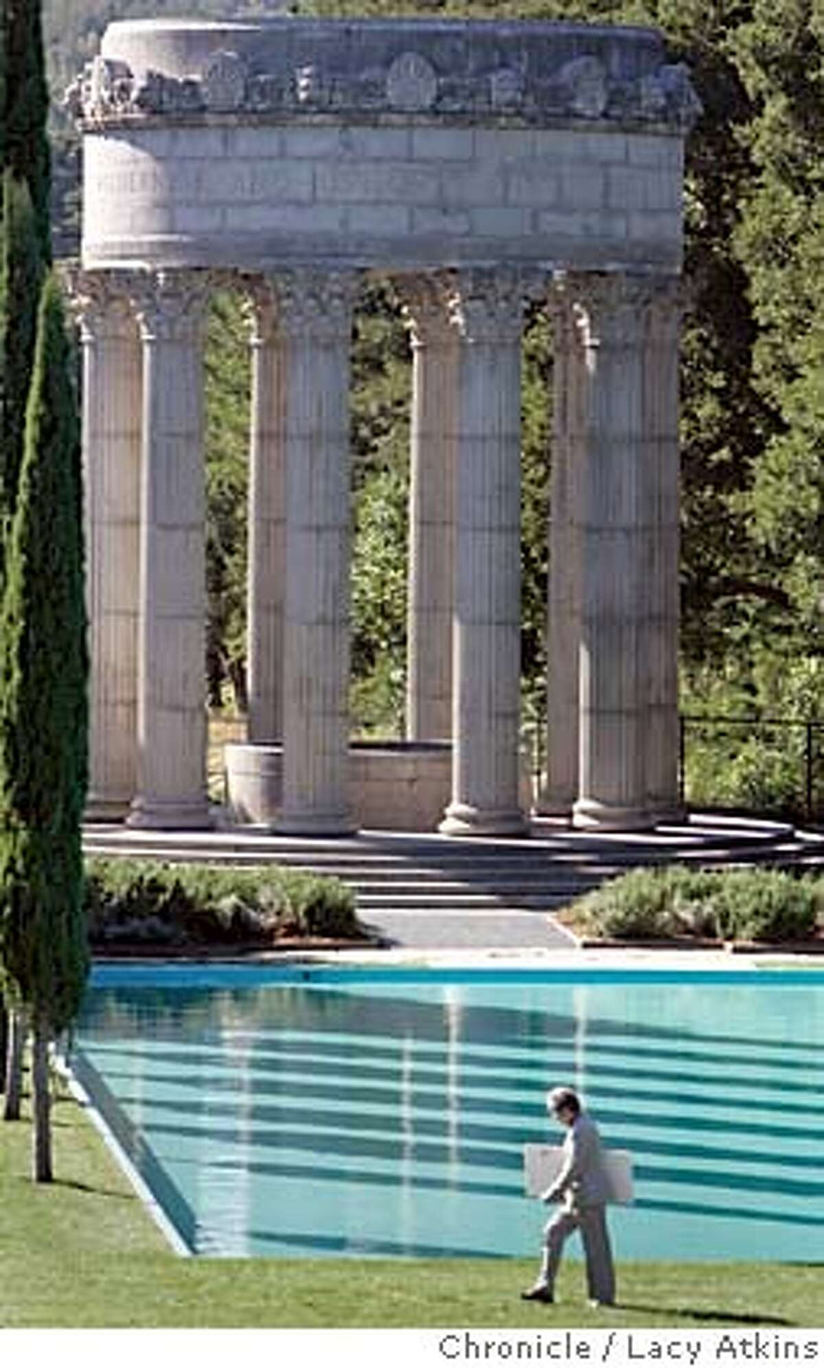 Historic Pulgas Water Temple reopens after two years in Mateo, Oct.25,2004. LACY ATKINS/SAN FRANCISCO CHRONICLE Metro#Metro#Chronicle#10/26/2004#ALL#5star##0422432106