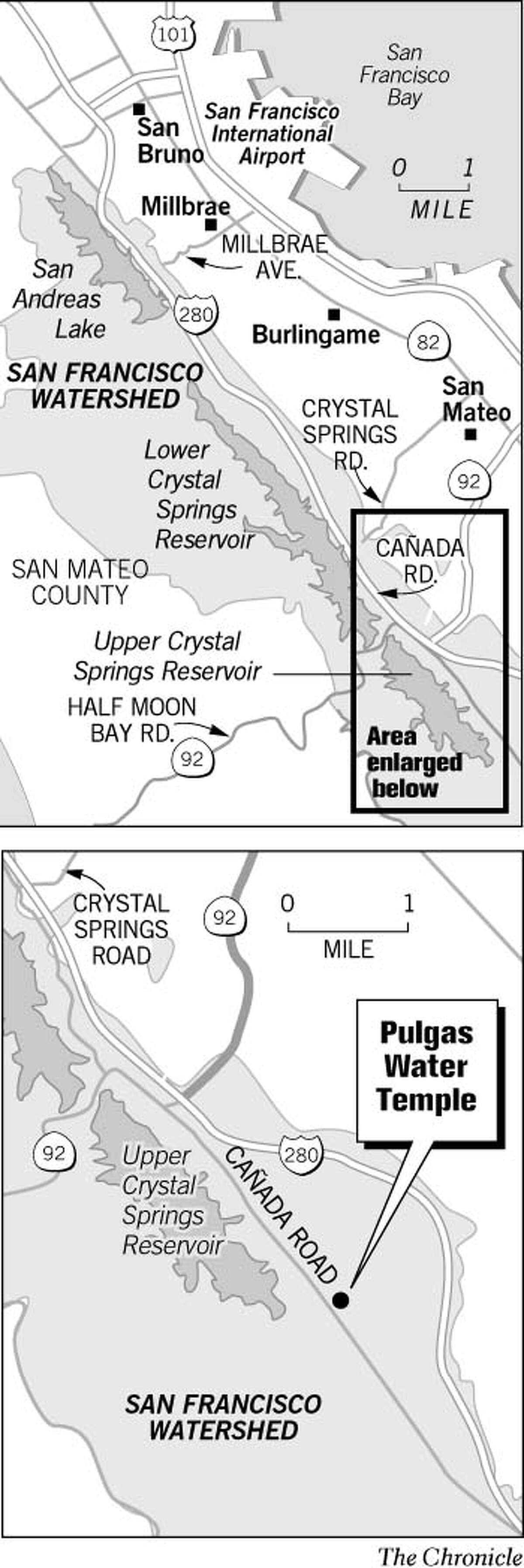Pulgas Water Temple. Chronicle Graphic