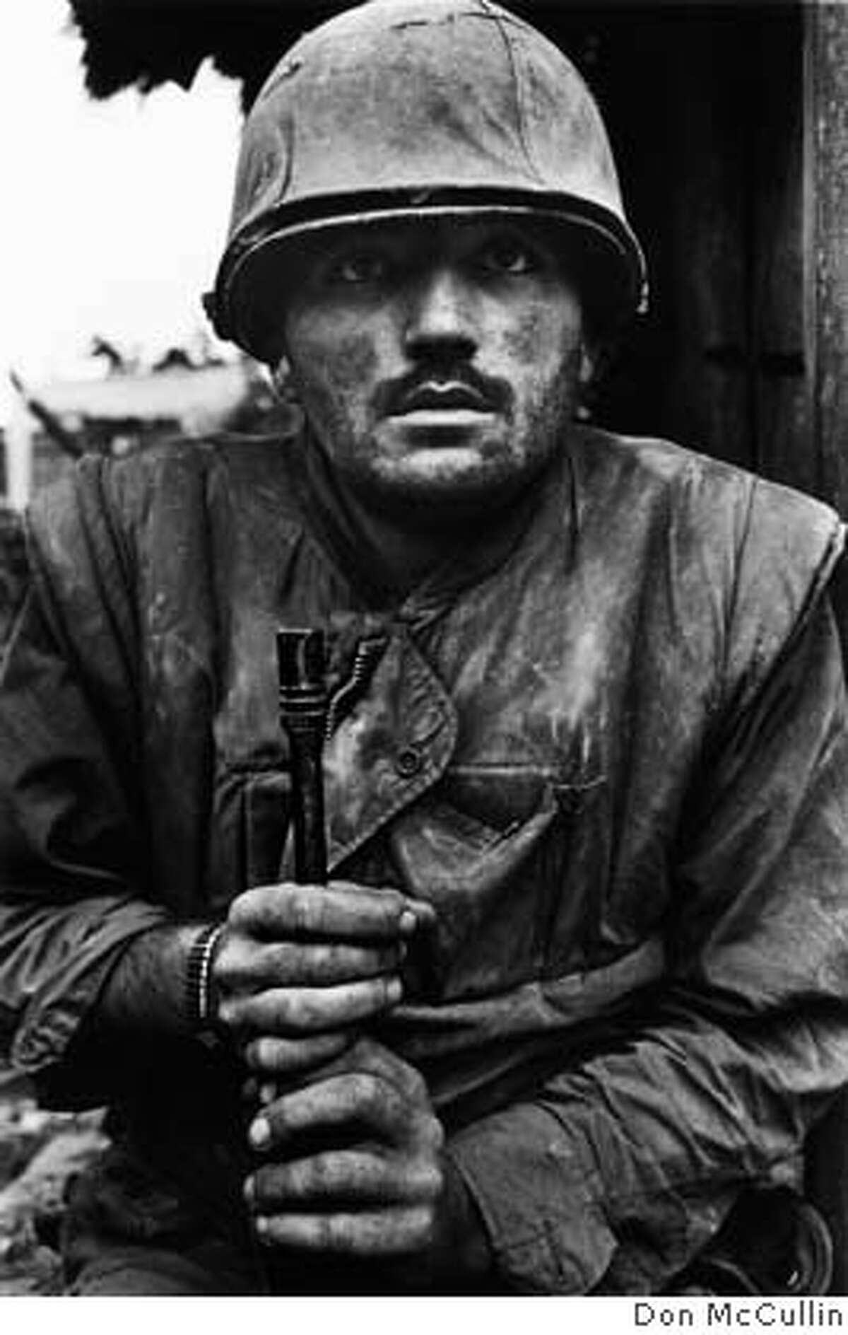 Shell-shocked U.S. Marine during Tet offensive, The Citadel, battle of Hu�, South Vietnam, February 1968 Don McCullin � Don McCULLIN / CONTACT Press Images