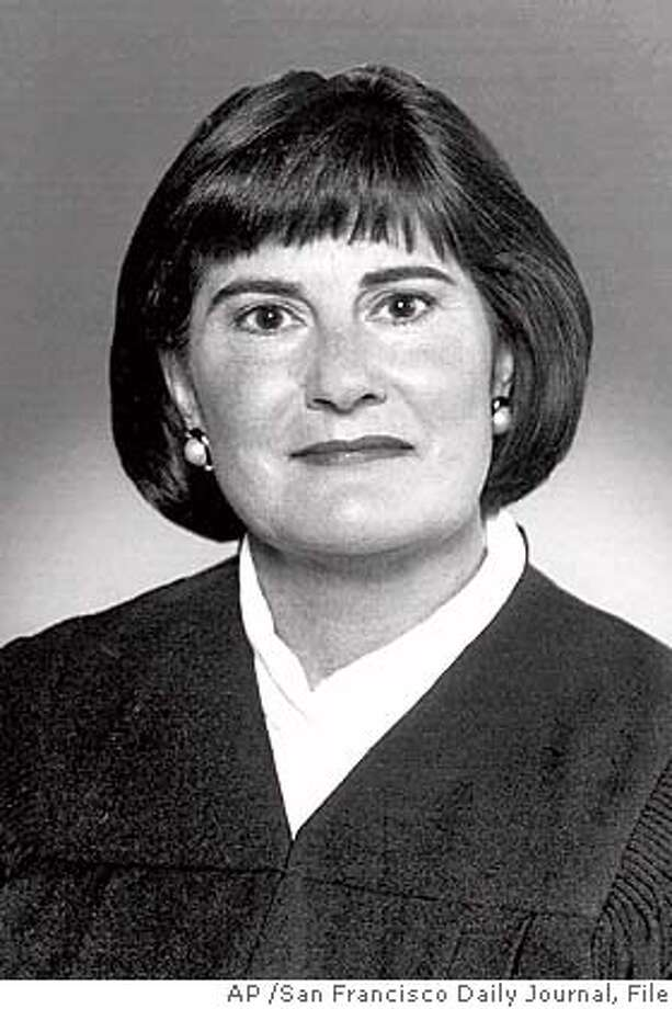 ** FILE ** Judge M. Margaret McKeown of the 9th U.S. Circuit Court of Appeals is shown in a file photo, date and location not known. The judges will hear arguments in the case that postponed the California gubernatorial recall election. (AP Photo/San Francisco Daily Journal) CAT FILE PHOTO, DATE NOT KNOWN