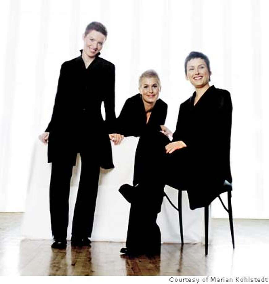 Photo of the Mediaeval Trio per Joshua Kosman's request.  �  Courtesy of Marian Kohlstedt  Director of Publications/Public Relations  San Francisco Performances Photo: Courtesy Of Marian Kohlstedt