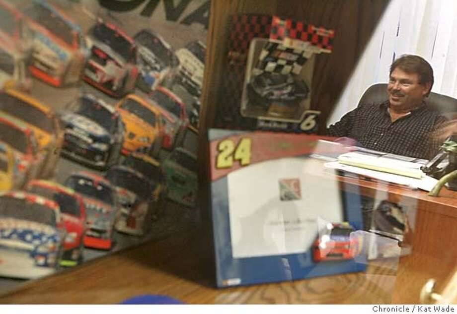"VOTERS_NASCAR_092_KW.jpg  On 10/21/04 in Richmond a true ""NASCAR dad,"" Michael Doninelli, a business owner and father of three boys is a strong Bush supporter and was thrilled to be at the Daytona 500 when Bush arrived via Airforce One and appeared at the race earlier this year.  Chronicle Photo by Kat Wade Mags out/mandatory credits San Francisco Chronicle and photographer/ Nation#MainNews#Chronicle#10/26/2004#ALL#5star##0422432145 Photo: Kat Wade"