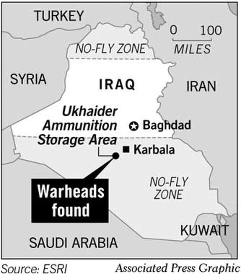 Warheads Found. Associated Press Graphic