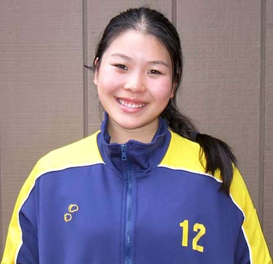 Mug shot of Danielle Chun. She's a volleyball player for Convent of Sacred Heart.
