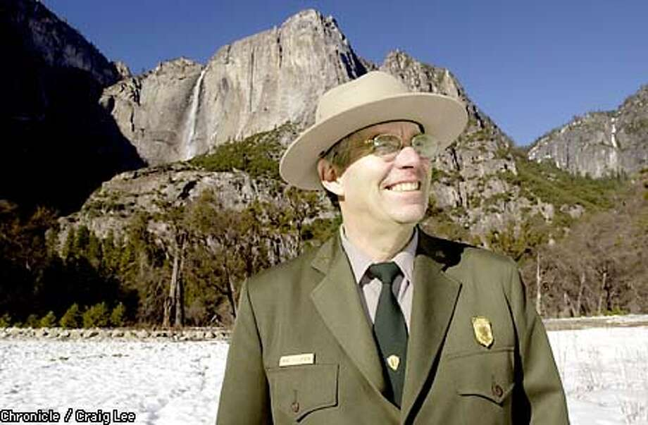 Michael J. Tollefson, 55, the new Superintendent of Yosemite National Park. Photo of Tollefson with Yosemite Falls in the background. Photo by Craig Lee/San Francisco Chronicle Photo: CRAIG LEE