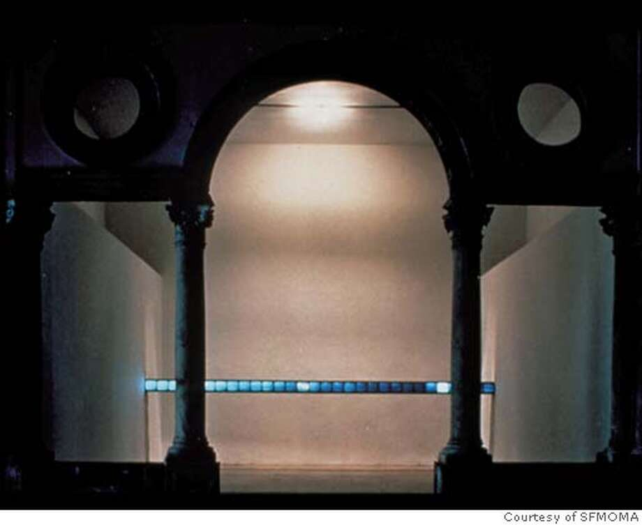 """""""Suspension of Disbelief (for Marine)"""" (1991-92)�video installation by Gary Hill.  �  Courtesy of The San Francisco Museum of Modern Art Datebook#Datebook#Chronicle#10/26/2004##Advance##0422427186"""