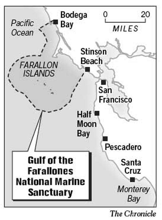 Gulf of the Farallones National Marine Sanctuary. Chronicle Graphic